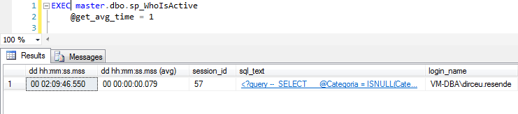 SQL Server - sp_WhoIsActive get_avg_time