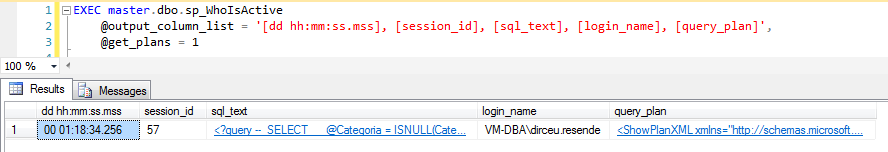 SQL Server - sp_WhoIsActive get_plans