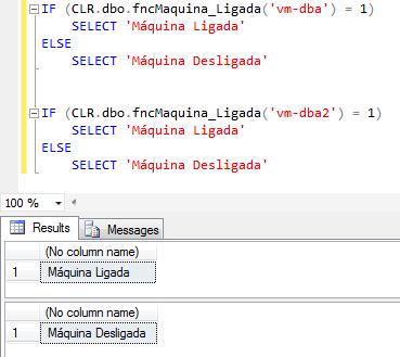 SQL Server - Como verificar se a máquina está ligada check computer server is online ping 2