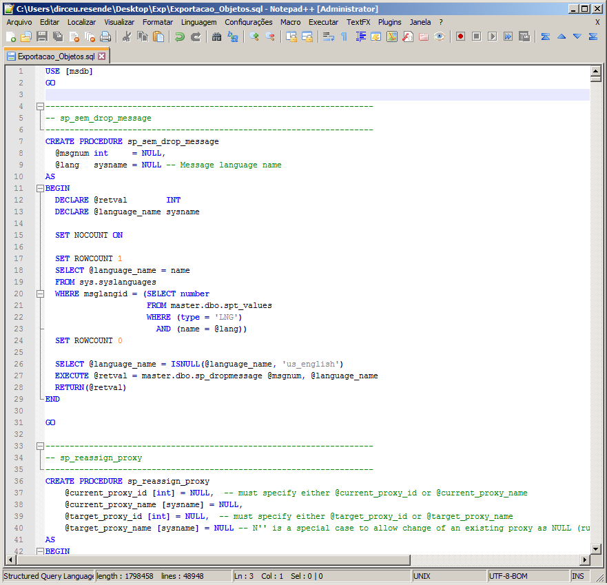 SQL Server - Export programmability objects to sql script one file-2