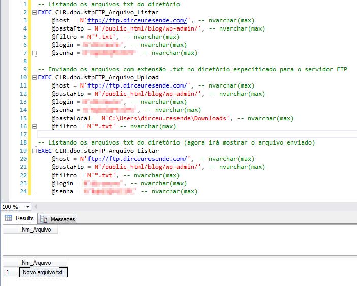 """Enviando todos os arquivos com extensão """".txt"""" para o servidor FTP"""