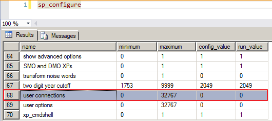 sql-server-sp_configure-user_connections