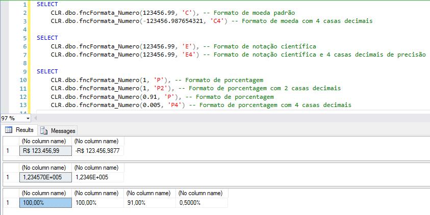 SQL Server 2012 – Utilizando a função FORMAT para aplicar